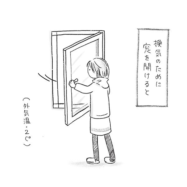 歓喜のために窓を開けると...(外気温2度)